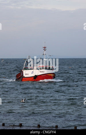 Burghead Fishing Boat On The Moray Coast In Scotland Stock