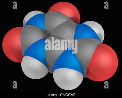 Uric acid molecule - Stock Photo