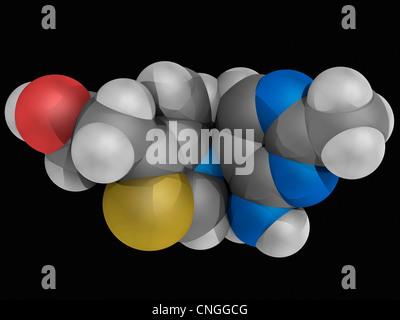 Vitamin B1 (thiamine) molecule - Stock Photo