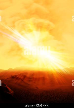 Alien planet  artwork - Stock Photo