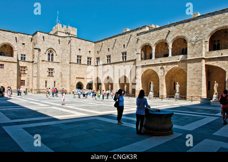 Europe Greece, Dodecanese, Rhodes, the medieval Grand Master palace - Stock Photo