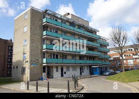 Social housing block  in east London, UK - Stock Photo