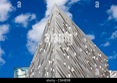 Detail of the Titanic Museum in Belfast Northern Ireland - Stock Photo