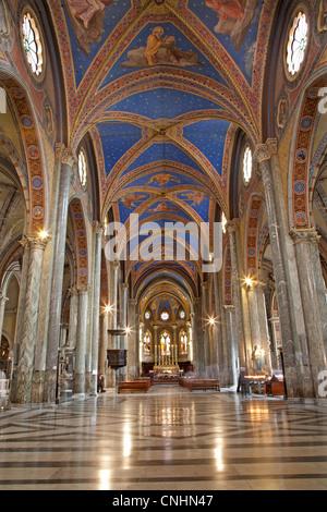 Rome - nave of Santa Maria sopra Minerva church - Stock Photo