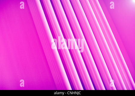 Full frame abstract of three dimensional pink lines - Stock Photo