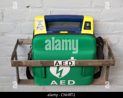 Emergency defibrillators cpr equipment can be found in many locations in the Netherlands - Stock Photo
