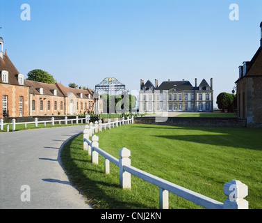Haras du Pin National Stud Normandy France - Stock Photo