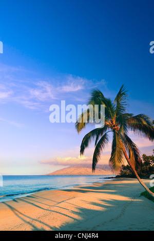 Sunrise at Kamaole Beach Park, Kihei, Maui, Hawaii - Stock Photo