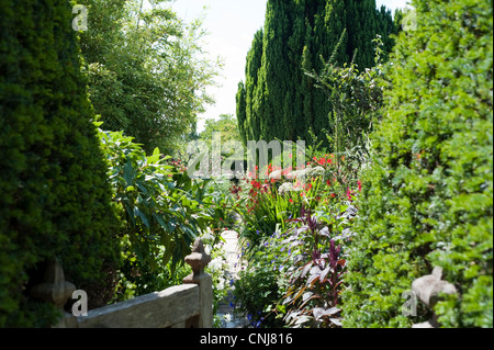 The gardens created by the gardener Christopher Lloyd at Great Dixter in Northiam, East Sussex, England, UK. - Stock Photo