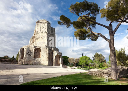 Tour Magne monument in Nimes, in France - Stock Photo