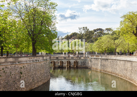 France europe provence south of france jardin de la fontaine nimes stock photo royalty free - Jardin de la fontaine nimes limoges ...