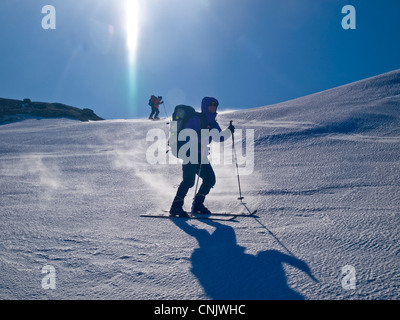 skitouring in the Hardanger region of Norway - Stock Photo