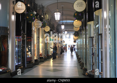 The Piccadilly Arcade Mayfair St James London - Stock Photo