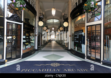 The Piccadilly Arcade Mayfair London - Stock Photo