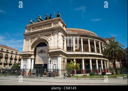 Palermo, Sicily, Italy -  Politeama Garibaldi Theater - Stock Photo