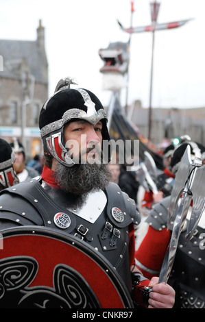 Up Helly Aa , Fire Festival  , Shetland , Lerwick , 2012 - Stock Photo