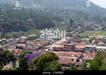 View of Kalaw, Burma. Myanmar - Stock Photo