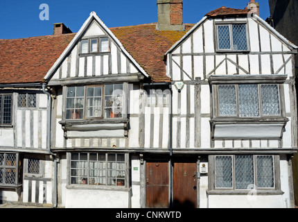 Beautiful old half-timbered houses, All Saints' Rd, Hastings, UK - Stock Photo