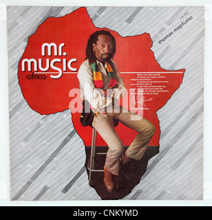Cover of vinyl album 'Mr Music (Africa)' by Thomas Mapfumo & The Blacks Unlimited released 1985 on Afro Soul Records - Stock Photo