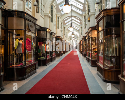 Burlington Arcade in central London, UK - Stock Photo