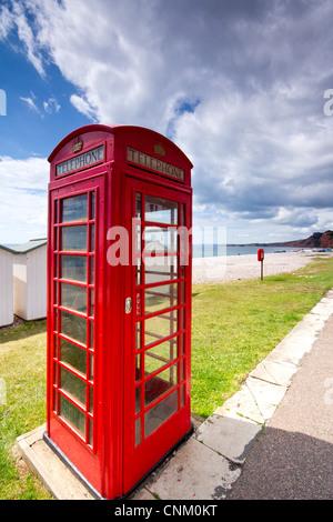 Red Phone box - Stock Photo
