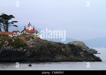 Battery Point light on the Pacific Ocean at Cresent City, California, USA. - Stock Photo