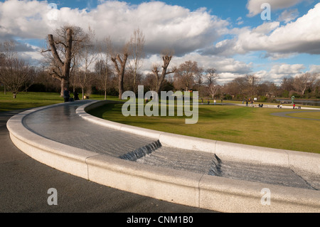 Diana, Princess of Wales Memorial Fountain by Kathryn Gustafson,Hyde Park,London,UK - Stock Photo