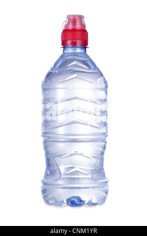 a bottle of water with clipping path - Stock Photo