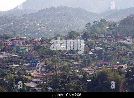 Outskirts of Kalaw town, Burma. Myanmar - Stock Photo