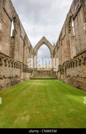 Ruins of the priory at Bolton Abbey, Wharfedale, North Yorkshire. - Stock Photo
