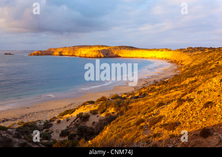 Sunset at Westall Bay near Streaky on the west coast of the Eyre Peninsula in South Australia - Stock Photo