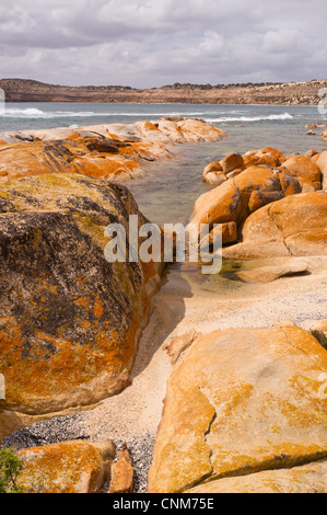 The Granites at Westall Bay near Streaky on the west coast of the Eyre Peninsula in South Australia - Stock Photo