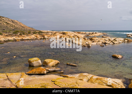 The Granites at Westall Bay on the Great Australian Bight near Streaky Bay on the west coast of the Eyre Peninsula - Stock Photo