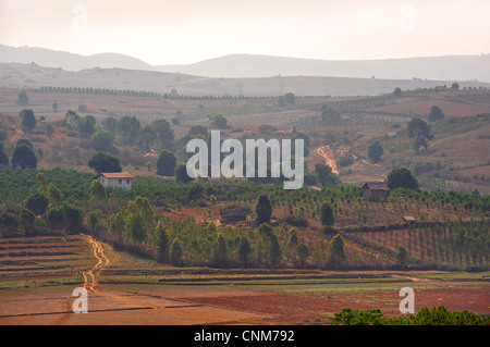 Rural countryside between Kalaw and Pindaya. Burma. Myanmar - Stock Photo
