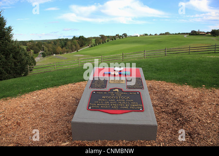 Monument of the 1969 Woodstock Music Festival, New York State, United States of America, North America - Stock Photo