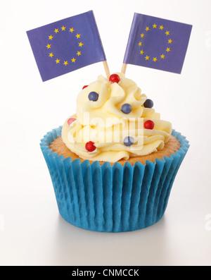 EUROPEAN UNION CUPCAKE - Stock Photo