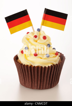 GERMAN FLAG CUPCAKE - Stock Photo