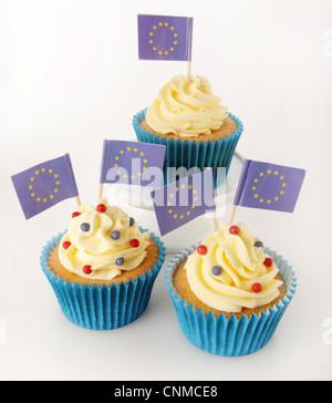 EUROPEAN UNION CUPCAKES - Stock Photo