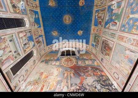 Giotto frescoes in the Scrovegni Chapel (Cappella degli Scrovegni), a church in Padua, Veneto, Italy, Europe - Stock Photo