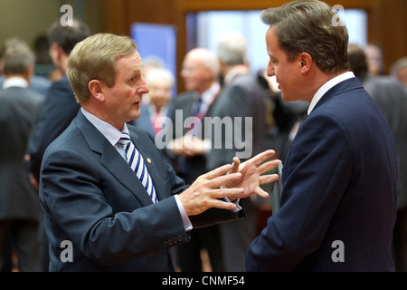 irish taoiseach enda kenny and british prime minister david cameron ireland england great britain uk united kingdom - Stock Photo