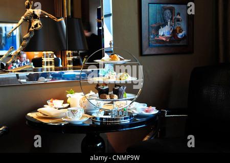 Afternoon Tea at The Four Seasons Hotel, Park Lane, London, England, UK - Stock Photo
