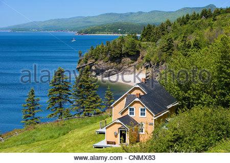 Anse Blanchette,St. Lawrence River,Parc National Forillon,Gaspesie,Gaspé Peninsula,Quebec,Canada - Stock Photo