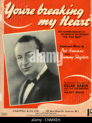 OSCAR RABIN (1899-1958) Latvian-born English bandleader on 1948 sheet music though photo is mid 1930s - Stock Photo