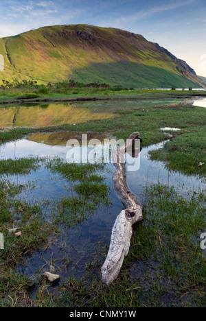 Portrait photo of IIlgill Head, Wast Water, Lake District National Park - Stock Photo