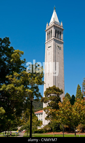 The Campanile (Sather Tower) at the University of California, Berkeley - Stock Photo