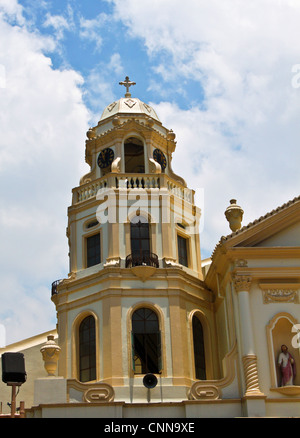 Part of Quiapo Church, a prominent Roman Catholic church located in the District of Quiapo, Manila, Philippines. - Stock Photo