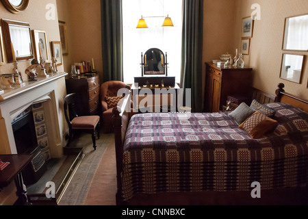 bedroom in a victoria style english house - Stock Photo
