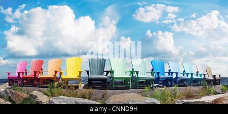 Muskoka Chairs by Lake