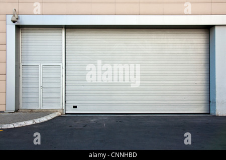 Commercial back door to retail store - Stock Photo