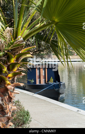canal boat Little Venice London - Stock Photo